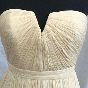 00P J. Crew Ivory V Neck Strapless Wedding Dress
